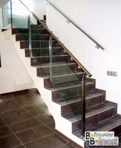 b inox 310 barandilla para escalera fijada a escaln - Barandillas Escaleras Interiores