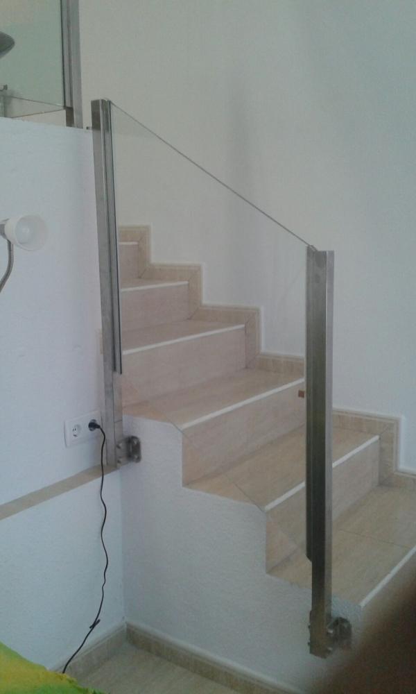 barandilla para escalera interior sin pasamanos